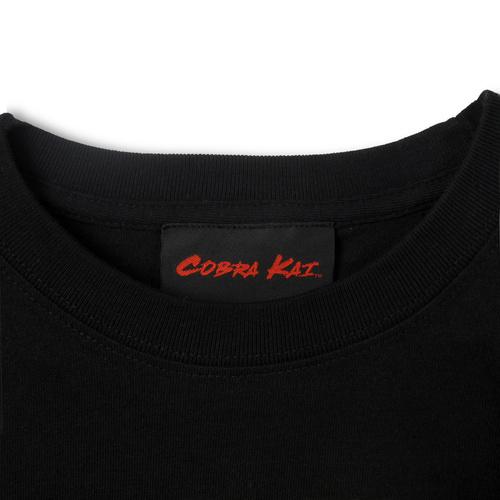 『コブラ会』オフィシャルロゴ Tシャツ 黒 (赤ロゴ) / S