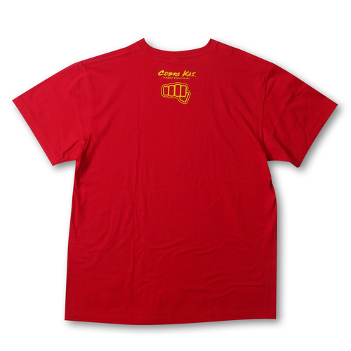 『コブラ会』オフィシャルロゴ Tシャツ 赤 (黄ロゴ) / L