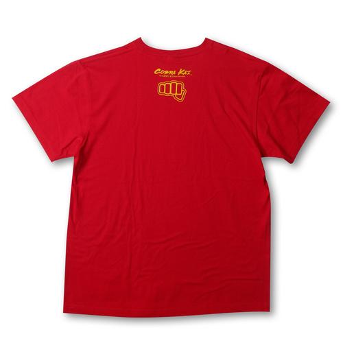 『コブラ会』オフィシャルロゴ Tシャツ 赤 (黄ロゴ) / XL