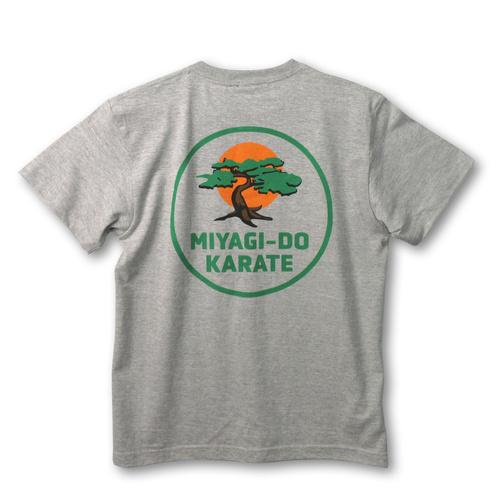 『コブラ会』ミヤギ道カラテ Tシャツ 2nd 灰色 / XL