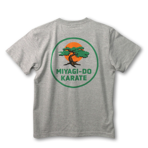 『コブラ会』ミヤギ道カラテ Tシャツ 2nd 灰色 / XXL