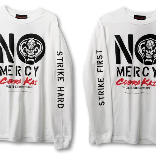『コブラ会』  NO MERCY ロング スリーブ Tシャツ(白) XXL