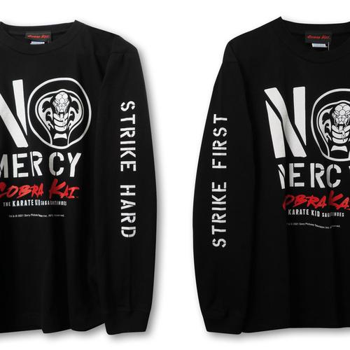 『コブラ会』  NO MERCY ロング スリーブ Tシャツ(黒) XL