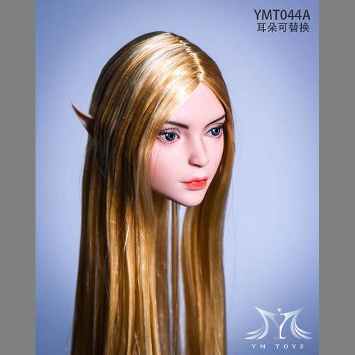 【YMT-044A】1/6 女性ヘッドA 交換用エルフ耳付属 (ゴールド